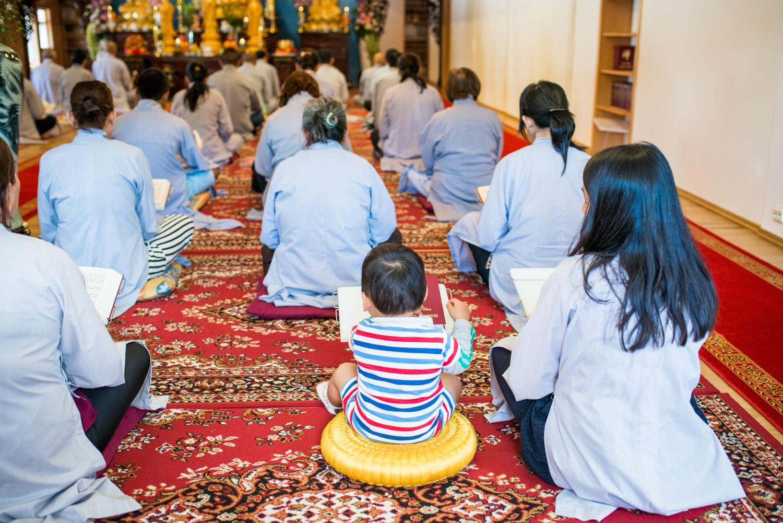 Moss 03.07.2016 Midt i et industriområde i Moss ligger et prangende buddhisttempel i ekte vietnamesisk stil. Tempelet heter Tam Bao Tu og er ledet av munken Thich Vien Tinh. FOTO: JOAKIM S. ENGER