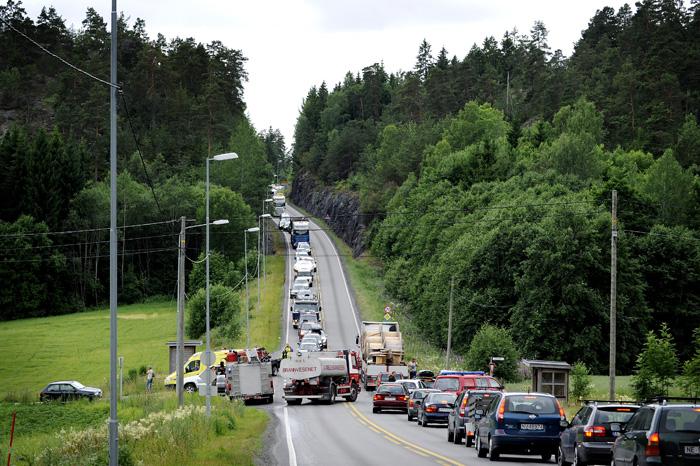 Ny trafikkulykke på E-18 i Bamble. Denne veistrekningen er sterkt ulykkesbelastet.
