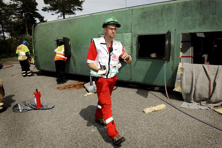 Morten Lysebo fungerte som operativ leder for helse under øvelsen.