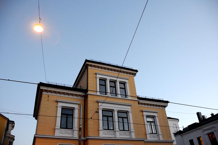 Oslo 12.01.2013. Gatelykt i Holtegata. FOTO: JOAKIM S. ENGER