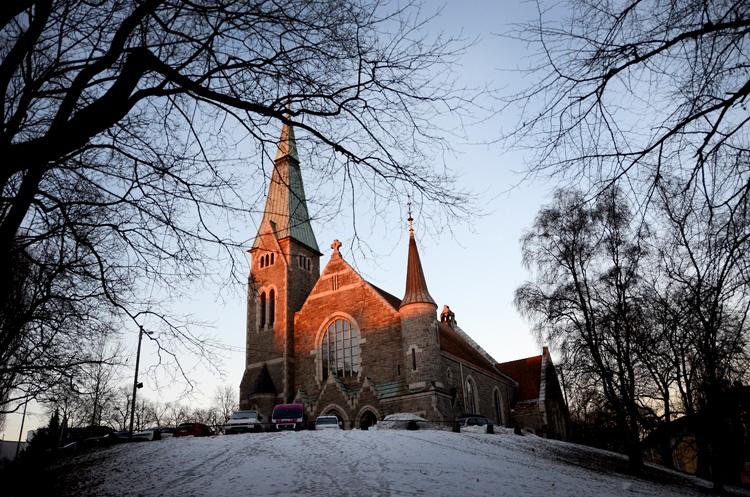 Oslo 12.01.2013. Fagerborg kirke.  FOTO: JOAKIM S. ENGER