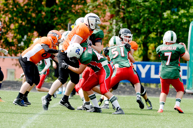 Amerikansk fotball, Gators mot sane, 36-6.FOTO: JOAKIM S. ENGER