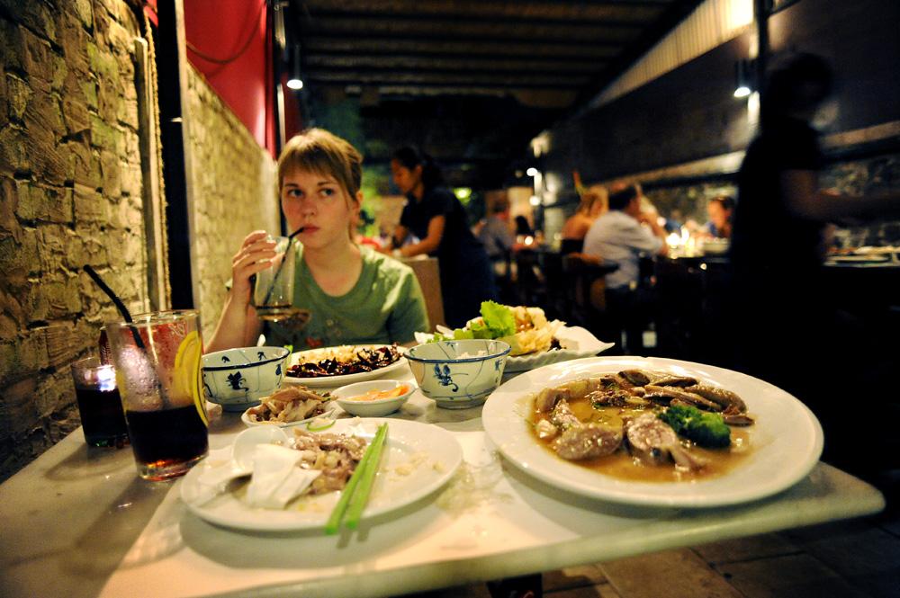 God mat på Blablabla... i Kuching.