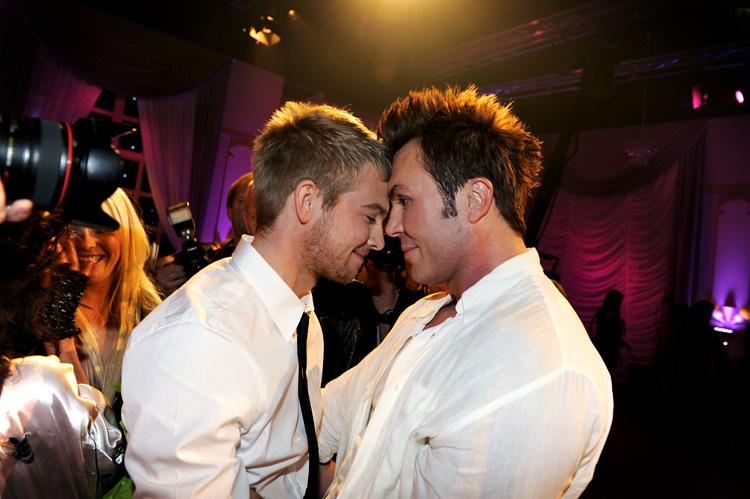 Jan Thomas røk ut av lørdagens dansekonkurranse på TV2. Her med ektemannen Christopher.