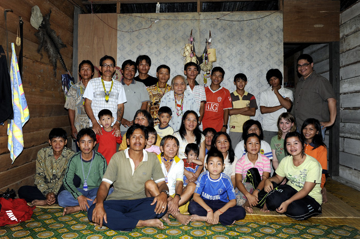 Us with the penan villagers.