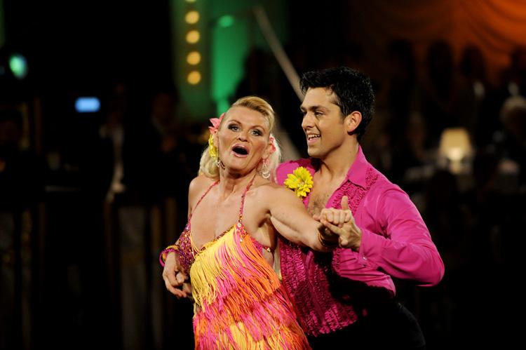 Mia og Glenn Jørgens andre dans var samba.