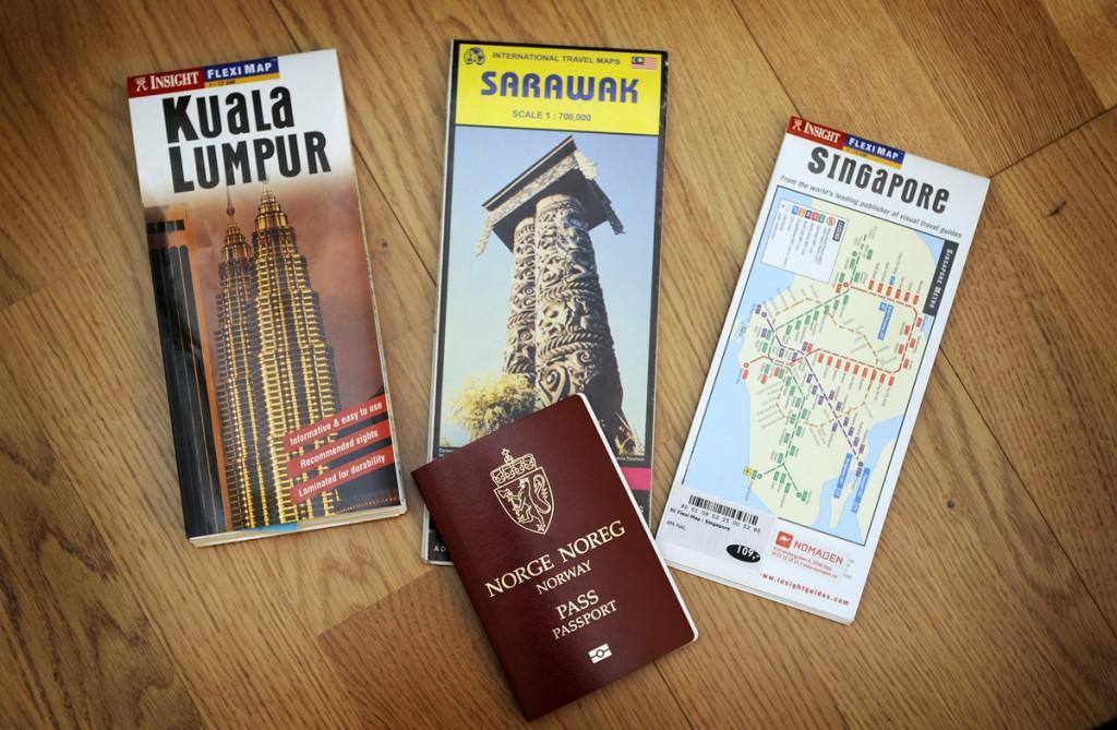 Her er reisemålene for turen. Kuala Lumpur, Malaysia - Sarawak, Borneo og Singapore.